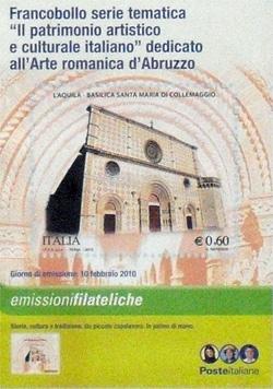 il francobollo emesso da Poste Italiane
